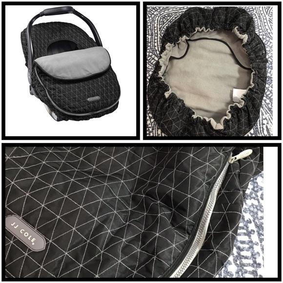 JJ Cole Other - JJ Cole | Car Seat Cover Black Tri-Stitch | OS